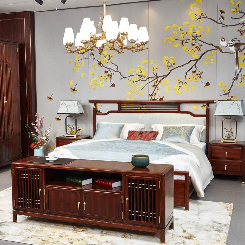 新中式家具TM9905床