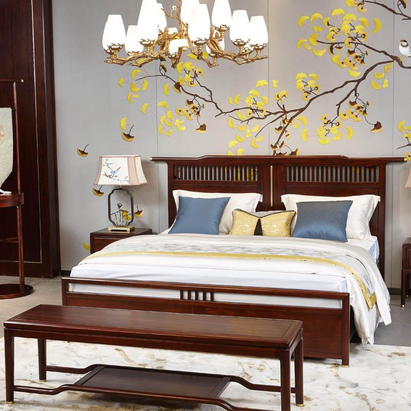 新中式家具TM9903床