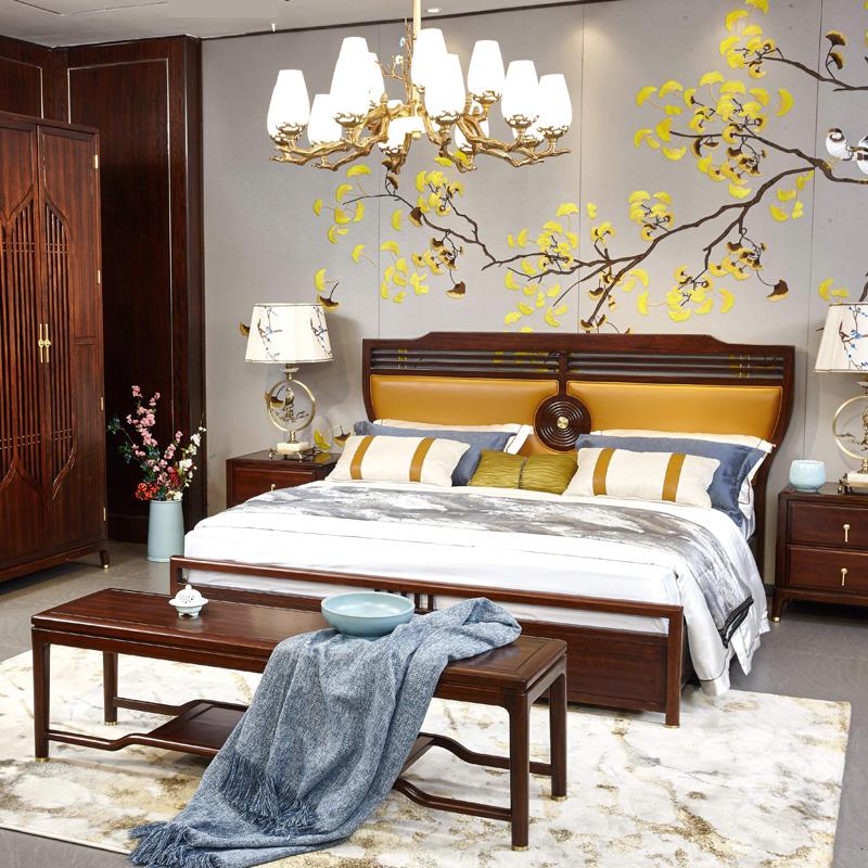新中式家具TM9902床